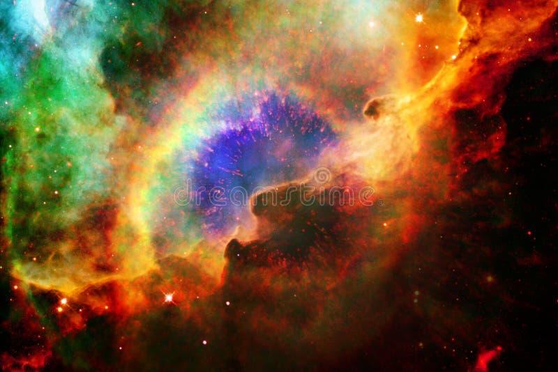 Nebulas, γαλαξίες και αστέρια στην όμορφη σύνθεση Βαθιά διαστημική τέχνη απεικόνιση αποθεμάτων