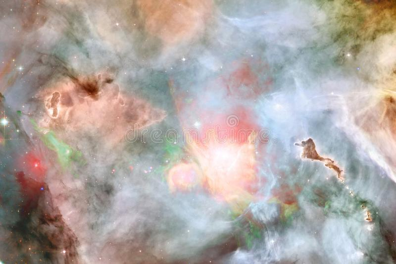Nebulas, galaxies and stars in beautiful composition. Deep space art. Elements of this image furnished by NASA stock illustration