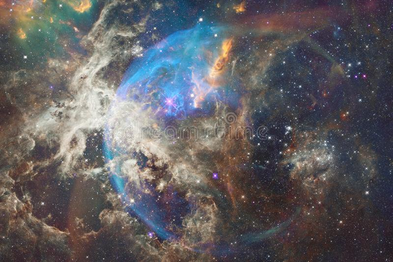 Nebulas, galaxies and stars in beautiful composition. Deep space art. Elements of this image furnished by NASA royalty free illustration