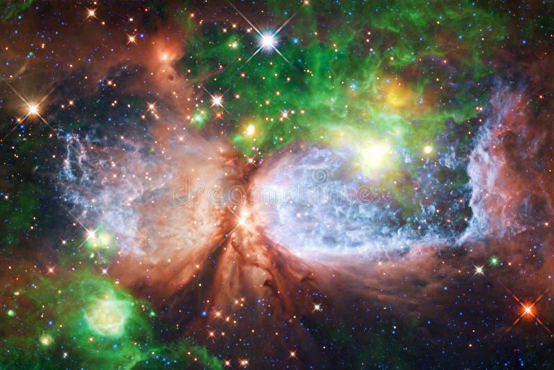 Ταπετσαρία, γαλαξίες και nebulas επιστημονικής φαντασίας διαστημική στην τρομερή κοσμική εικόνα στοκ φωτογραφία