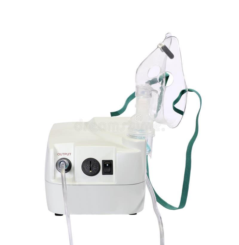 Nebulizer. For treating respiratory illness isolated on white royalty free stock photos