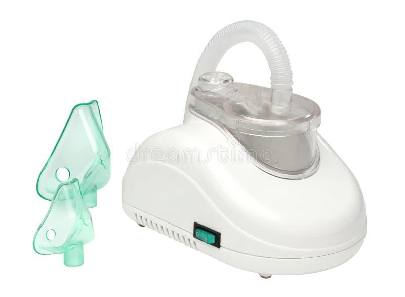 Nebulizer machine. Over white background royalty free stock photos