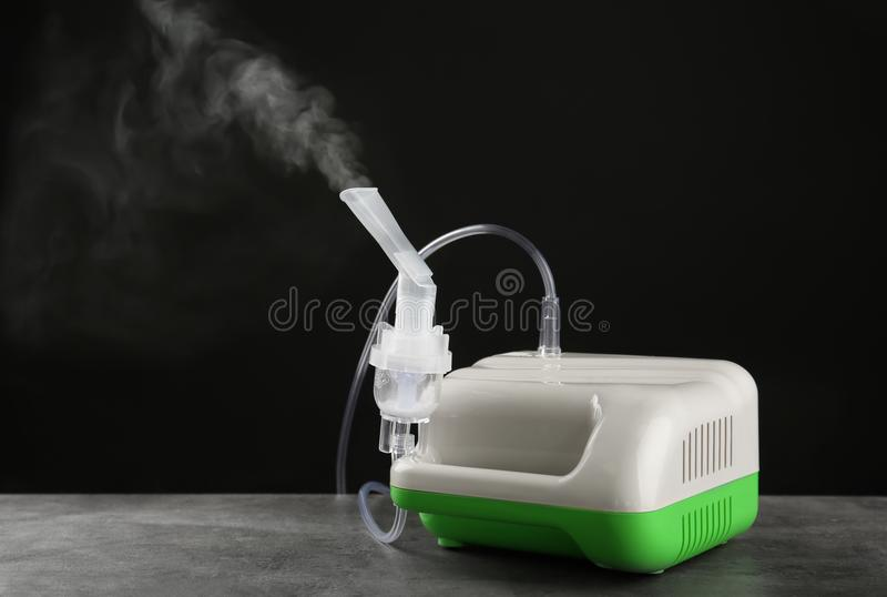 Nebulizzatore del compressore con il boccaglio immagini stock