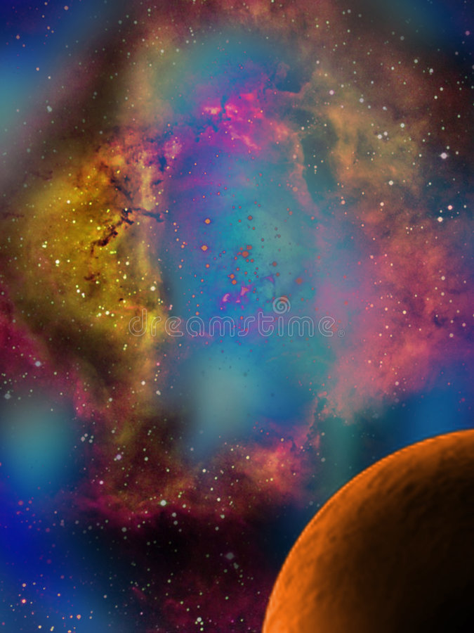 Nebulosa fotografia de stock