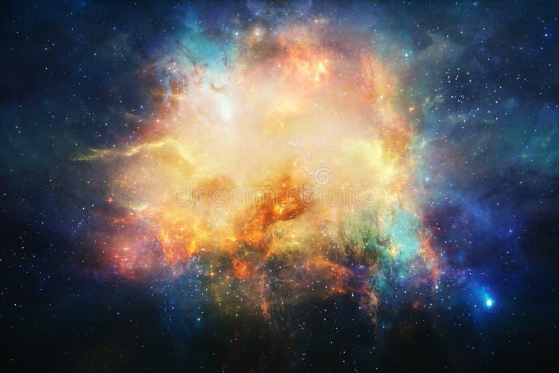 Nebulosa artistica astratta nel fondo dello spazio cosmico royalty illustrazione gratis