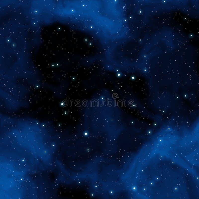 Nebulosa azul ilustração stock