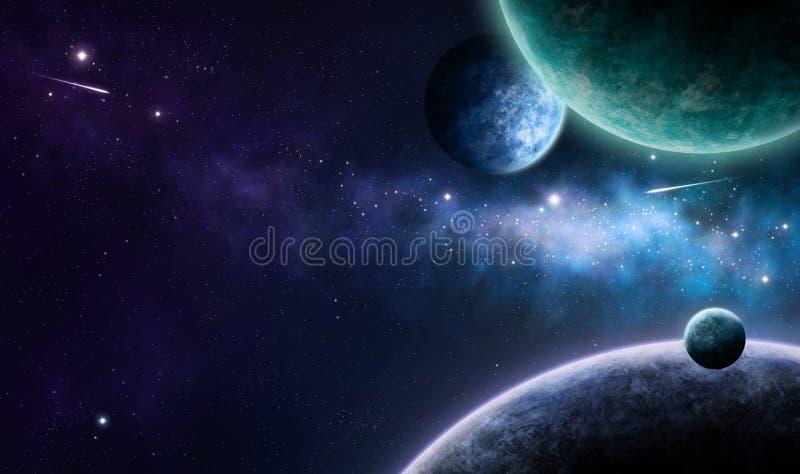 Nebulosa azul y púrpura stock de ilustración