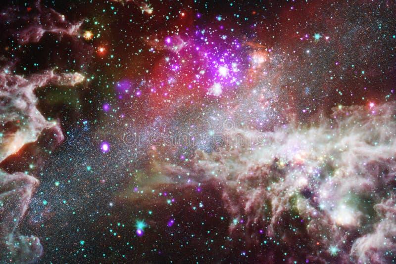 Nebulosa in bello universo senza fine Impressionante per la carta da parati e la stampa illustrazione di stock