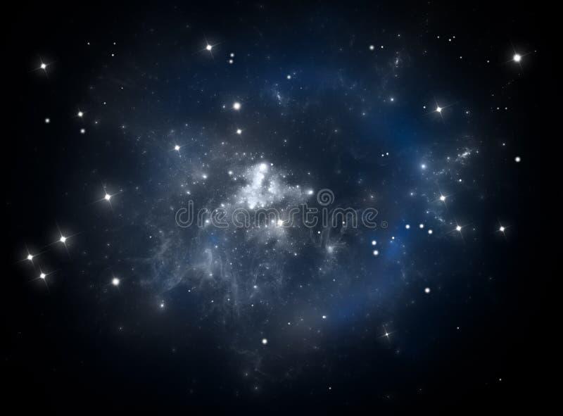 Nebulosa blu della stella dello spazio illustrazione di stock