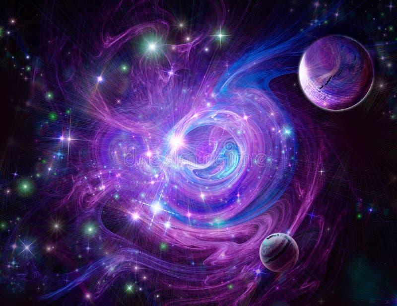 nebulosa Blu-viola illustrazione di stock