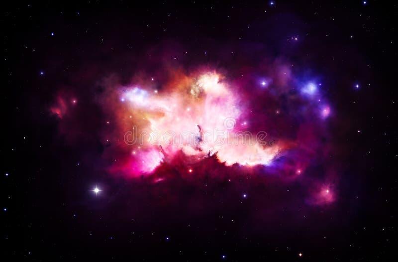 Nebulosa colorida ilustración del vector