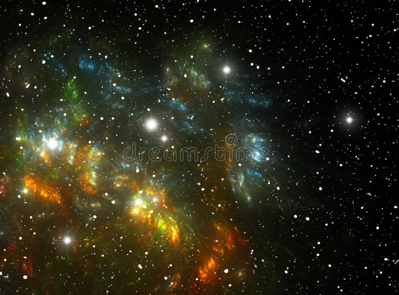 Nebulosa colorida de la estrella del espacio libre illustration