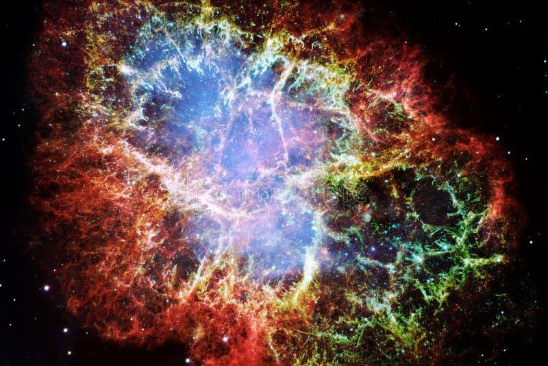 Nebulosa de caranguejo Elementos desta imagem fornecidos pela NASA ilustração royalty free