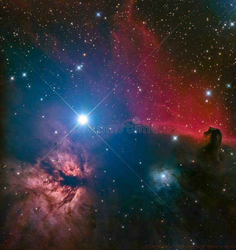 Nebulosa de HorseHead fotografía de archivo libre de regalías