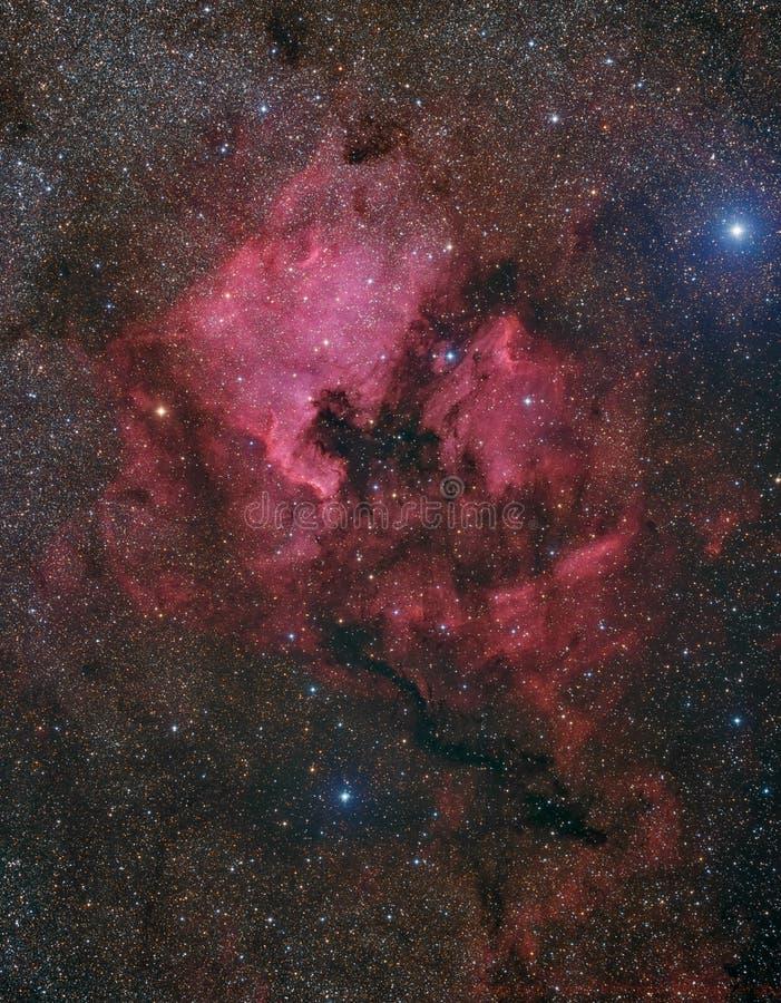 Nebulosa de Norteamérica y del pelícano fotografía de archivo