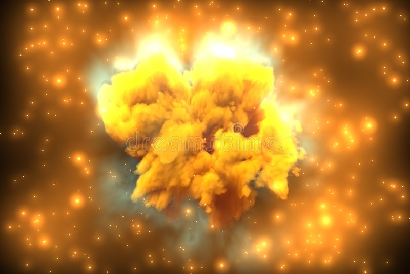 Nebulosa de Orion ilustração stock