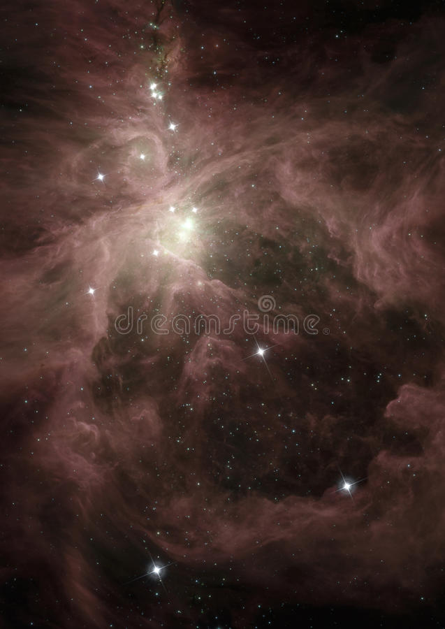 Nebulosa de Orion no espaço profundo ilustração royalty free