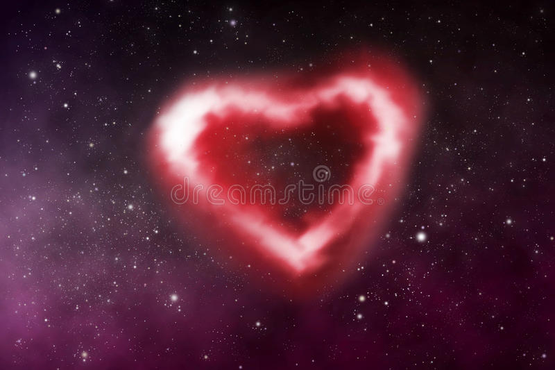 Nebulosa del corazón ilustración del vector