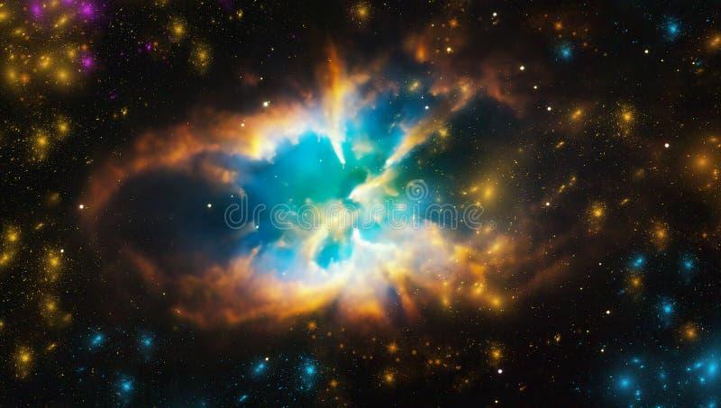 Nebulosa del espacio Racimo cósmico de estrellas Fondo del espacio exterior La galaxia protagoniza el fondo ilustración del vector