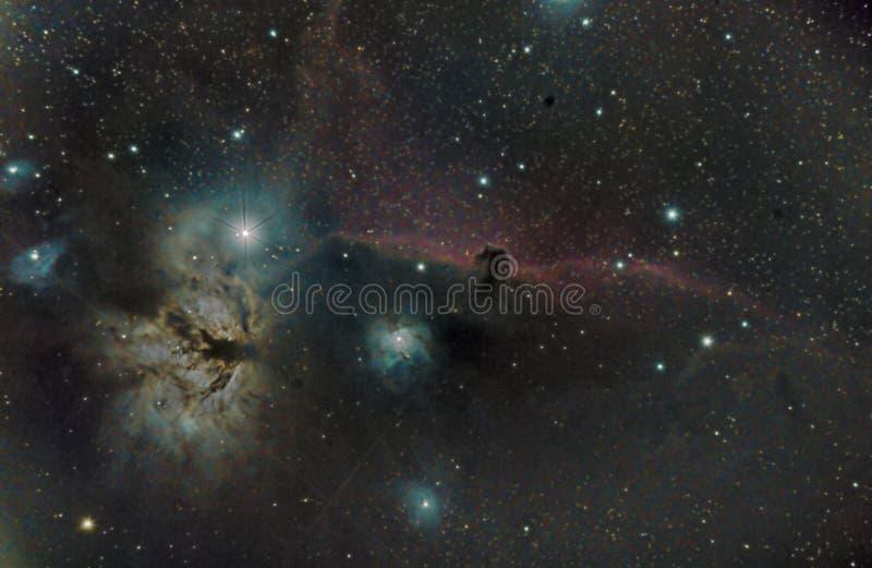 Nebulosa di Horsehead, astomy e spazio fotografia stock libera da diritti