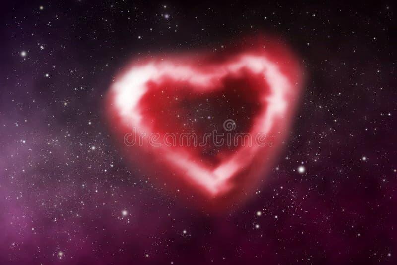 Nebulosa do coração ilustração do vetor