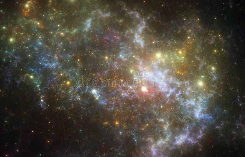 Nebulosa do espaço profundo fotos de stock