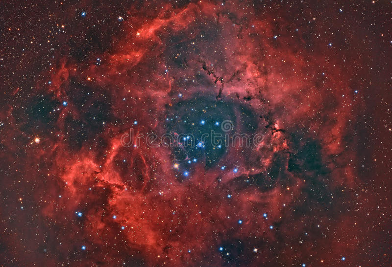 Nebulosa do Rosette ilustração royalty free