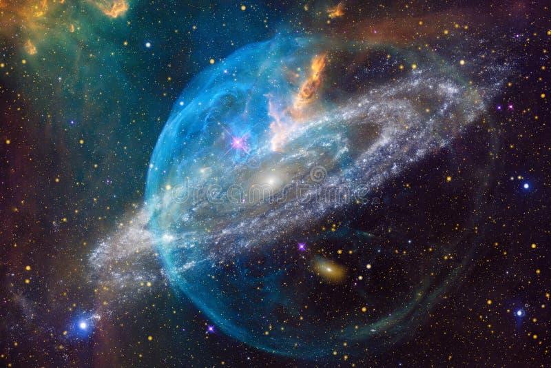 Nebulosa e galáxias no espaço Elementos desta imagem fornecidos pela NASA ilustração stock