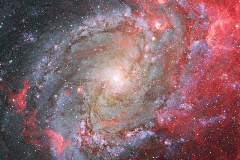 Nebulosa e galáxias no espaço Elementos desta imagem fornecidos pela NASA ilustração royalty free