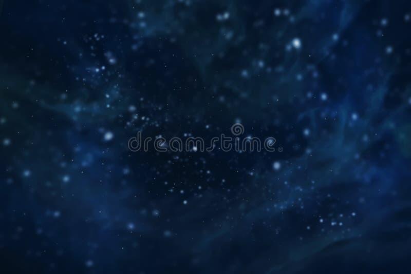Nebulosa e galáxias no universo da galáxia do espaço enchido com o fundo abstrato cósmico dos elementos coloridos das estrelas ilustração do vetor