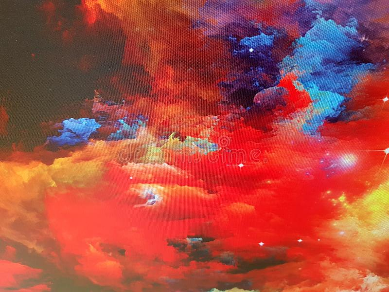 Nebulosa en lona libre illustration