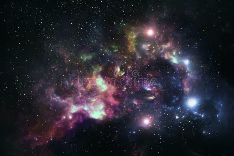 Nebulosa, espacio y universo coloridos libre illustration