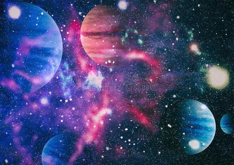 Nebulosa, estrellas y galaxias hermosas Elementos de esta imagen equipados por la NASA foto de archivo
