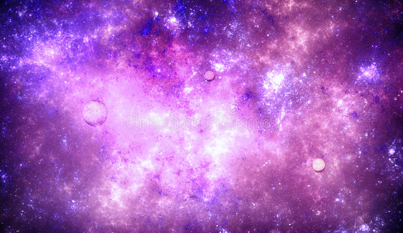 Nebulosa för djupt utrymme med stjärnor royaltyfri foto