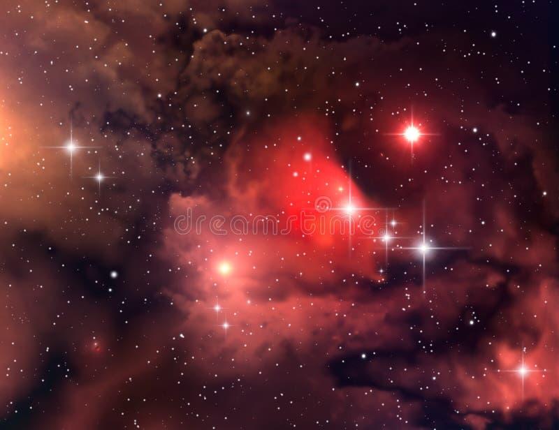Nebulosa (fundo abstrato) ilustração do vetor