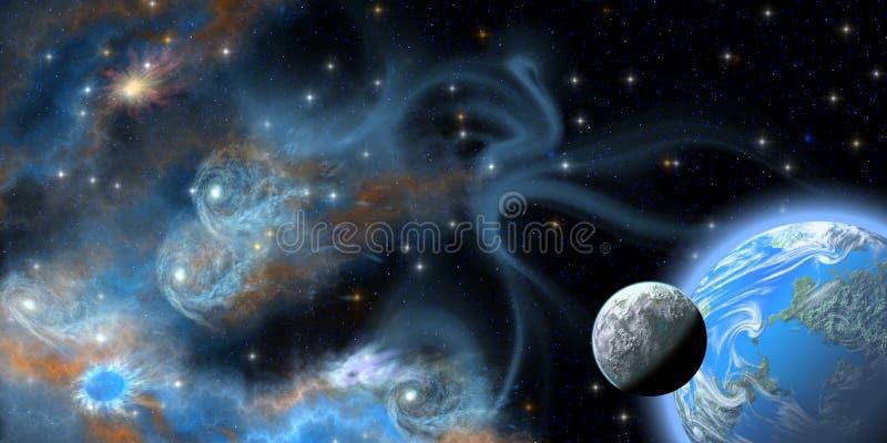 Nebulosa gêmea ilustração do vetor