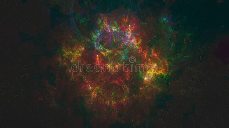 Nebulosa i djupt snabbt royaltyfri illustrationer