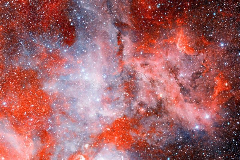 Nebulosa impresionante con las estrellas en espacio profundo stock de ilustración