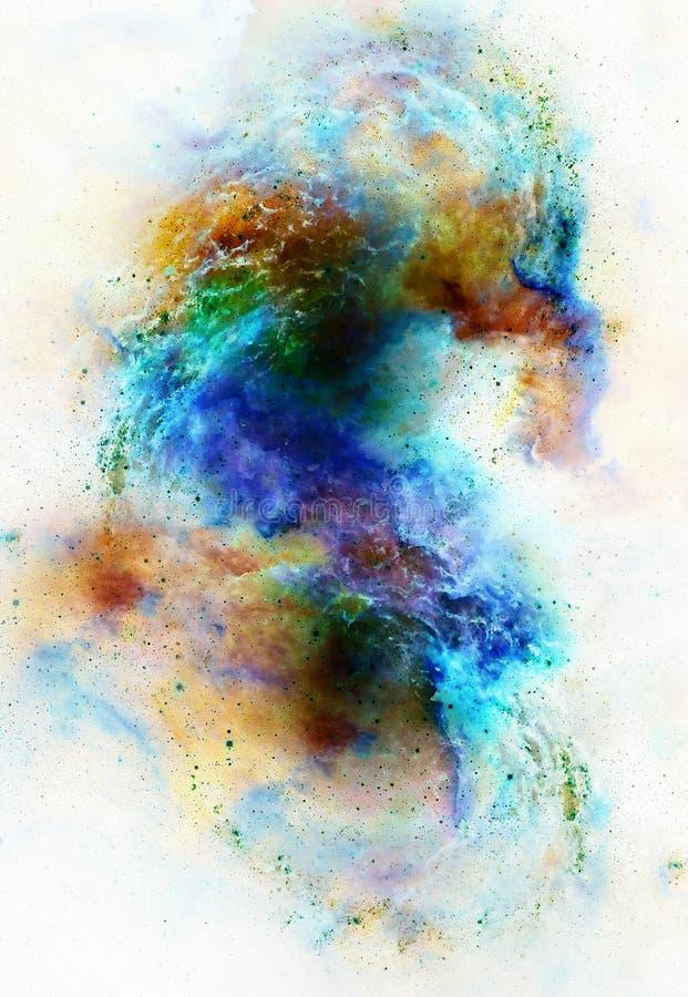 Nebulosa, kosmiskt utrymme och stjärnor, kosmisk abstrakt bakgrund Beståndsdelar av denna avbildar möblerat av NASA royaltyfri illustrationer