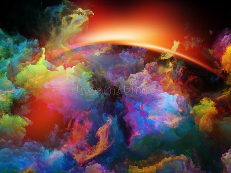 Nebulosa magnífica do espaço ilustração do vetor