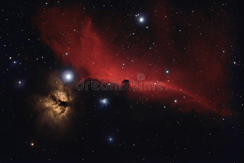 Nebulosa no espaço profundo imagem de stock