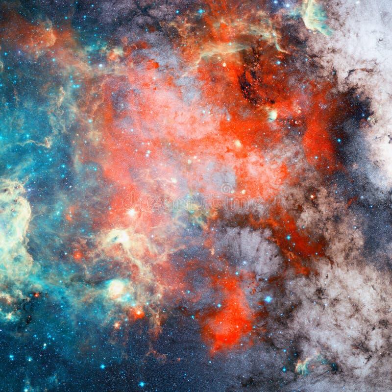 Nebulosa och stjärnor i yttre rymd Beståndsdelar av denna avbildar möblerat av NASA arkivbild