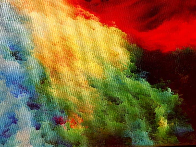 Nebulosa på kanfas arkivbild
