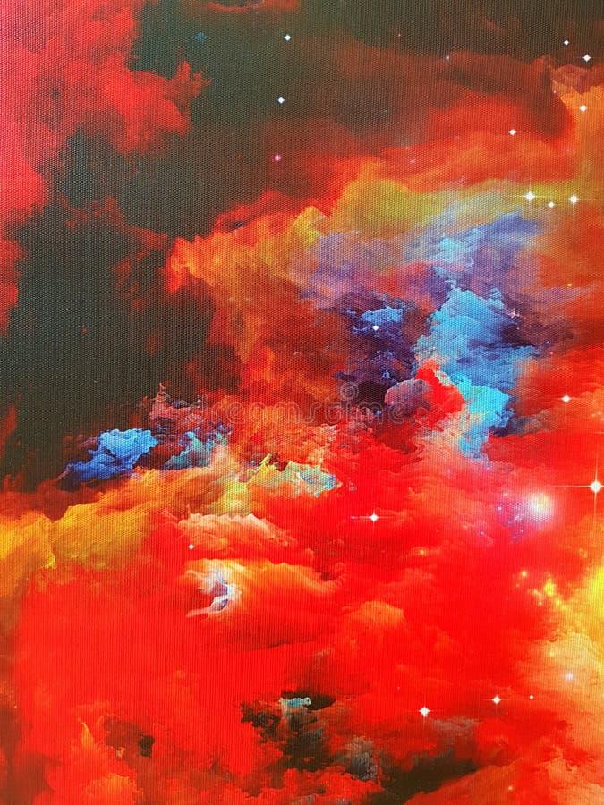 Nebulosa på kanfas royaltyfria bilder