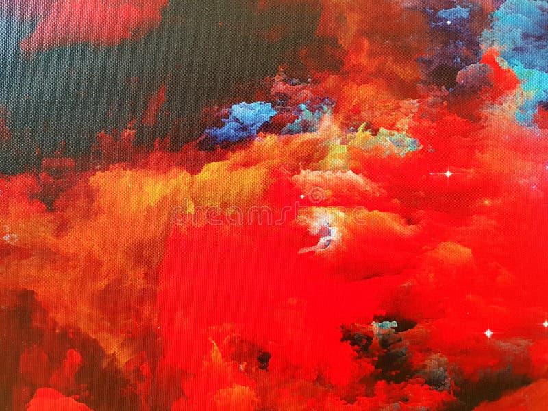 Nebulosa på kanfas fotografering för bildbyråer