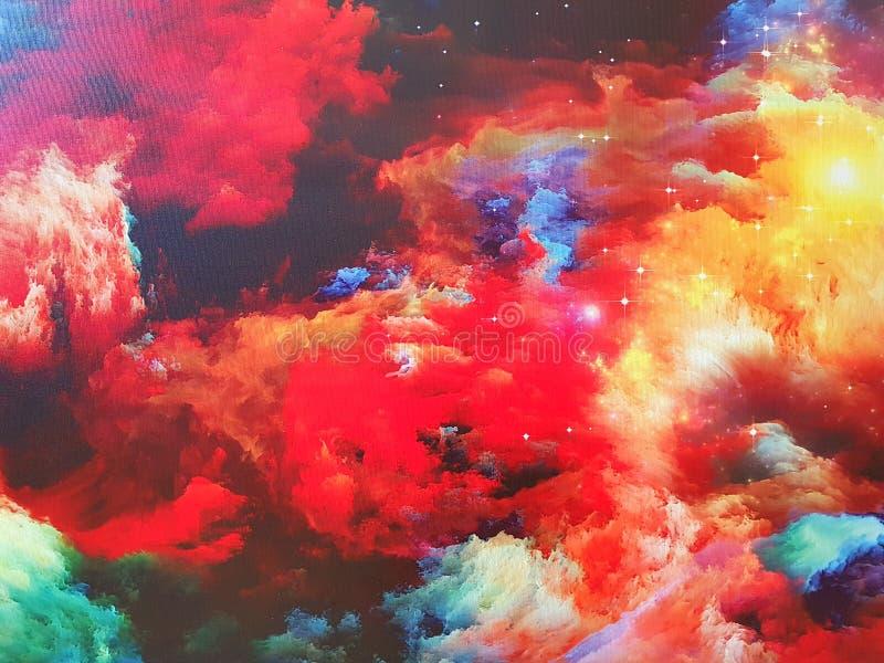 Nebulosa på kanfas arkivfoto