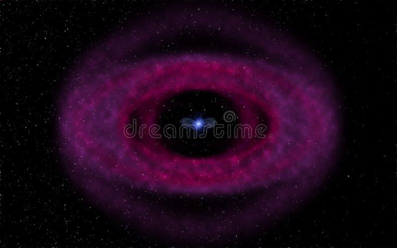 Nebulosa planetaria y enano blanco fotos de archivo libres de regalías