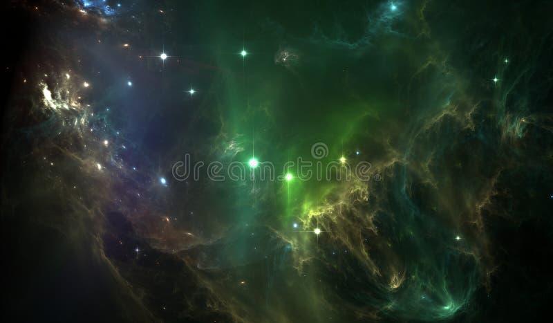 Nebulosa radiactiva oscura ilustración del vector