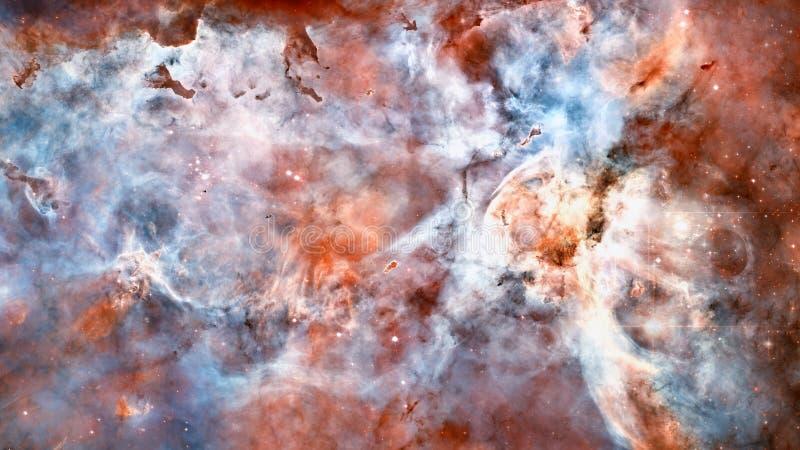 Nebulosa, stjärnor och galax i djupt utrymme royaltyfria foton