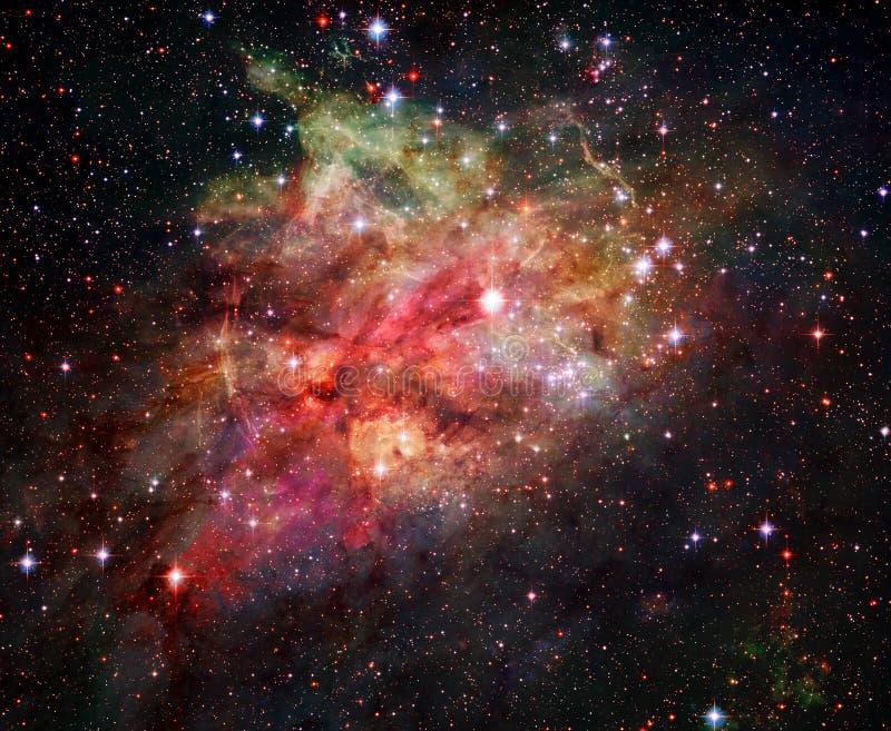 Nebulosa, stjärnor och galax i djupt utrymme Beståndsdelar av denna avbildar möblerat av NASA royaltyfria bilder